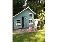 Children's playhouse with mezzanine level