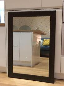 Mirror leather effect frame