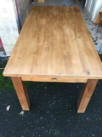 Solid pine table (delivery available)