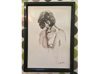 Beautiful Framed and Signed Ink Painting