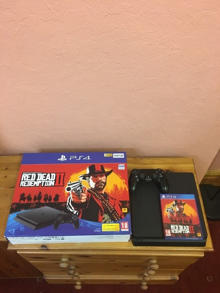 Sony Playstation 4 slim bundle with Red Dead Redemption 2 used | in  Preston, Lancashire | Gumtree