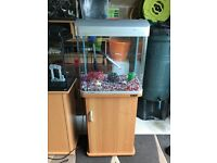 75l aqua fish tank v g c full set up with stand filter light lid heater gravel ornament all work