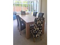 DFS Oak Dining Table with Six Chairs