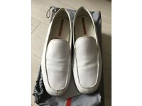 Prada genuine white leather shoes size 9/43