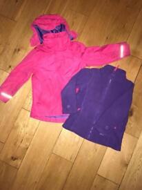 Gelert girls outdoor winter coat 5-6 years