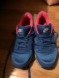 Pink and blue nike trainers size 5