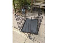 Large pet cage with built in floor.Folds flat