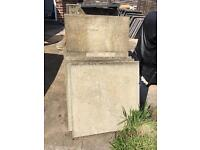 Concrete slabs - 60 x 60 cm - aprox 60 units - job lot or individually