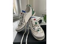Mens Dsquared Used Trainers White, Blue and Green size 40 (UK 6)