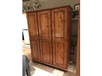 Trible ducal wardrobe antique pine finish