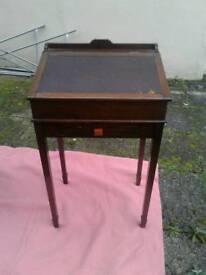 1940's oak child's writing desk