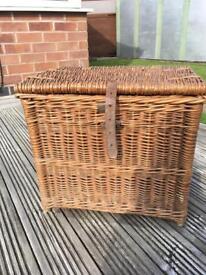 Large wicker fishing basket