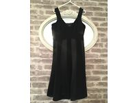Stunning Autograph Occasions Black Panel Thick Strap Dress Size 14