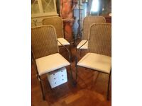FREE DELIVERY, a set of four Heal's of London garden chairs