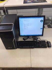 Acer Aspire M5100 Windows 7 Intel core 2 Duo CPU 2GB RAM Includes keyboard, mouse and leads value!