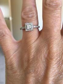 Ernest Jones Platinum Size L Princess Cut Diamond Ring £400