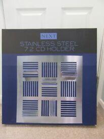 NEW Next stainless steel CD rack unit holder