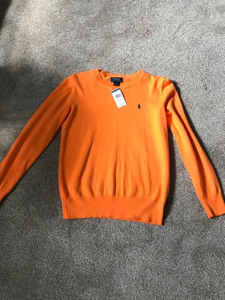 Brand new orange Ralph Lauren junper