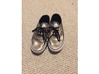 Gold Leather Vans Size 4 only worn two times