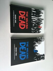 The walking dead graphic novel books x2