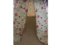 Flower Butterfly Wigwam Wooden frame and Cotton Canvas Pink