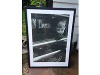 Audrey Hepburn black-framed print 73x53cm
