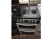 Black & silver stoves 50cm gas cooker grill & oven good condition with guarantee