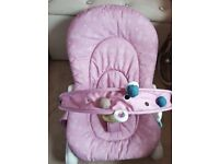 Pink chicco seat/rocker