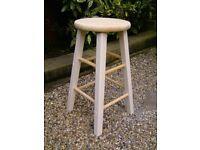 Classic wooden bar stool