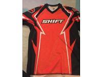 Orange shift child's motocross shirt