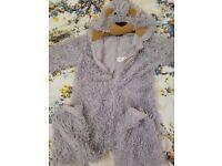 age 3-4 dog teddybear onesie NEXT sheepdog fancy dress shaggy costume dressup