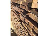 Approximately 800 Unused Bradgate Golden Purple house bricks
