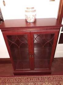Small Dark Wood Display Cabinet/Bookcase
