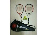 Tennis rackets and balls £7