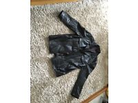 Men's black leather jacket in size XL
