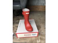 Hunter wellies size 3/4/5/6/7 military red short and long ready for winter or Christmas