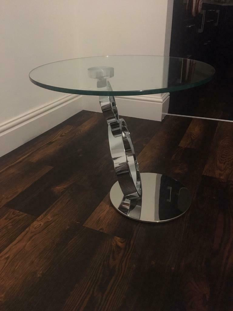 Furniture Village Glass And Chrome Coffee Table In Harborne West Midlands Gumtree