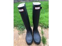Hunter Wellies Original Tall Women's Black Size 6