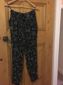 M&S Collection tapered leg print trousers - 8 new with tags