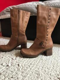 TOPSHOP FAITH 3/4 length BOOTS. WORN ONCE. SIZE 5.