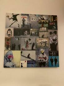 Banksy Collage Canvas Print