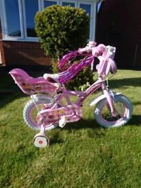 "Girls cupcake 12"" wheels punk bike"