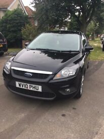 Black Ford Focus Zetec 1.6 for sale. Under 47000 miles, good condition!