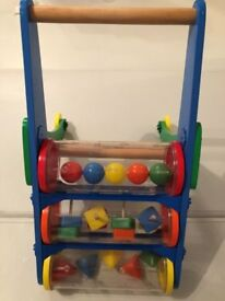 Melissa & Doug Rattle Rumble Wooden Push Toy
