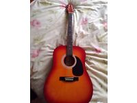 New Stagg SW201CS Acoustic Guitar + carry bag