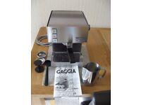GAGGIA CUBIKA Espresso machine, excellent condition, with extras, makes great espresso!