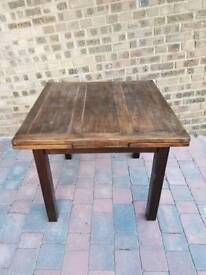 Reduced **£80** Vintage Solid Wood Rustic Oak Extendable Dining Table