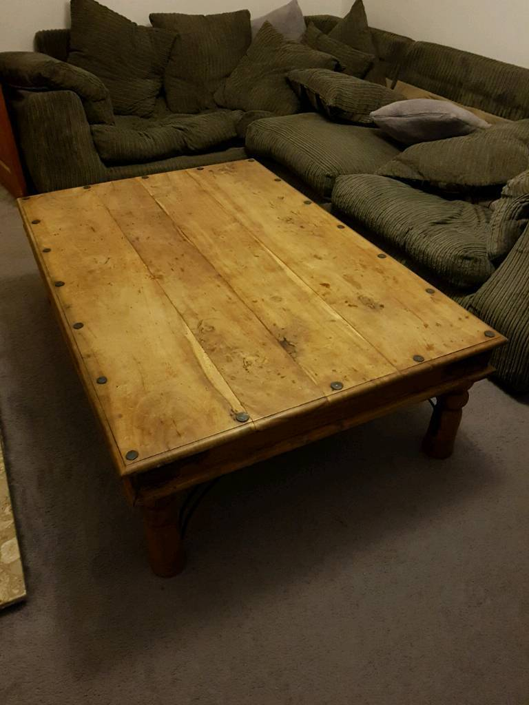 Very Large Solid Wood Thakat Coffee Table