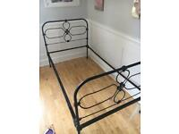 Shabby Chic vintage mental cast iron Bedstead with FREE Base