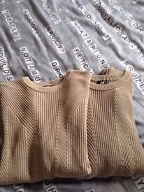 2 x H &M jumpers